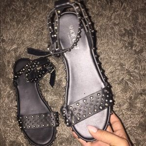 Studded black shoe cult platforms by nasty gal